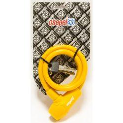 Csepel-spiral-lakat-10X1000MM-szilikon-sarga