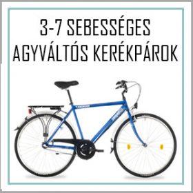 3-8 sebességes agyváltós kerékpár - kontrás - felszerelt