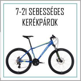 7-21 sebességes kerékpár - Láncváltós - felszerelt